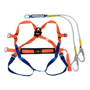 JIANGANG/建钢 坠落悬挂全身式安全带 310804 含双大钩缓冲绳 1.2m 1套