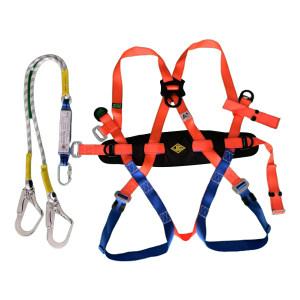 JIANGANG/建钢 坠落悬挂全身式安全带 310801 含双大钩缓冲绳 1.2m 1套