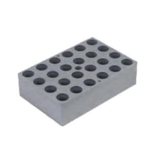 CRYSTAL/精骐 模块 DBA01 适用5mL圆管 孔径13.5mm 孔深30mm 孔数24孔 外形尺寸118×78×31.5mm 1件