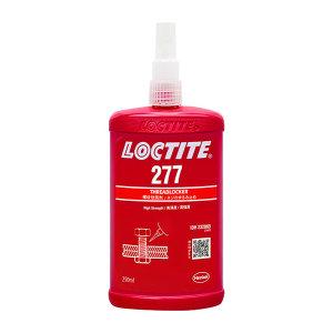 LOCTITE/乐泰 螺纹锁固胶-超高强度耐高温型 277 红色 高强度 高粘度 250mL 1瓶