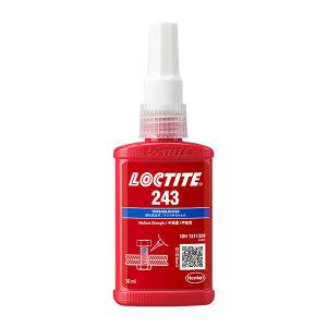 LOCTITE/乐泰 螺纹锁固胶-高粘度中强度型 243 蓝色 中强度 溶油性好 50mL 1支