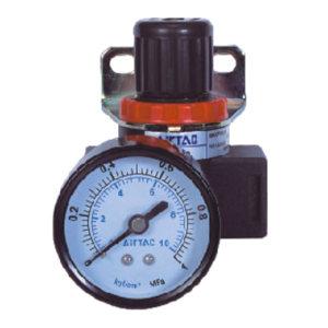AIRTAC/亚德客 BR系列调压阀 BR20001 压力范围0.05~0.9MPa 接口Rc1/4 附压力表 附支架 1个