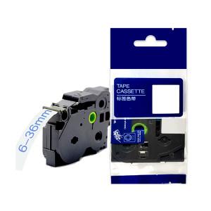 AIMO/爱墨 强粘性线缆标签色带 WZe-241 18mm白底黑字 中性包装 1个