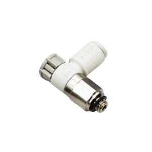 SMC AS-F系列速度控制阀 AS1201F-M3-04 弯型 快插接口4mm 外螺纹M3 1个
