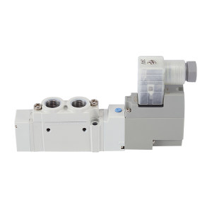 SMC SY5000系列五通电磁阀 SY5120-5DZ-01 两位五通 DIN插座式 接口Rc1/8 DC24V 1个