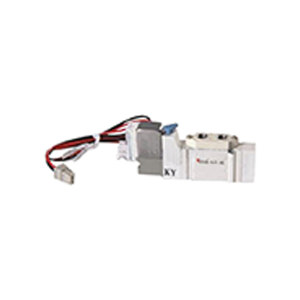 SMC SY5000系列五通电磁阀 SY5120-5LZ-01 两位五通 L型插座式 接口Rc1/8 DC24V 1个