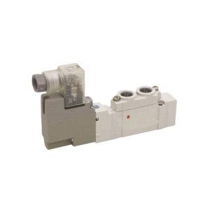 SMC SY5000系列五通电磁阀 SY5120-5LZD-01 两位五通 L型插座式 接口Rc1/8 DC24V 1个