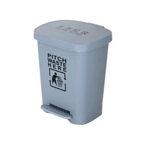 MINYIN/敏胤 脚踏式翻盖垃圾桶 MYL-7740-7 灰色 40L 1个