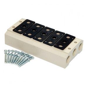 AIRTAC/亚德客 4V系列电磁阀底座 100M10F 适用于同品牌4V100系列 10连 1个