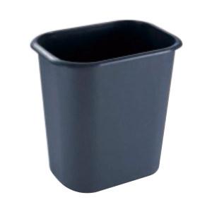QIZHENG/奇正 塑料垃圾桶 LT-044 30×21.5×30cm 灰色 1个