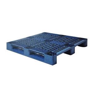 ZKH/震坤行 网格川字塑料托盘 1212150(加钢管) 1200×1200×150mm 静载6t 动载1.5t 货架1t 蓝色 1块