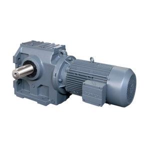 DONLY/东力 斜齿轮蜗轮蜗杆减速电机 DLSA04-63.84-DM90S-4/M6-1.1kW 速比63.84 1.1kW电机 带A向φ40mm输出轴 1台