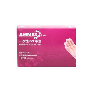 AMMEX/爱马斯 一次性PVC手套 GPX3KRT M 100只 1盒