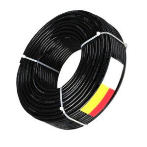 QIFAN/起帆 铜芯交联聚乙烯绝缘钢带铠装聚氯乙烯护套B级阻燃电力电缆 ZB-YJV22-0.6/1kV-3×50+1×25 护套黑色 1米