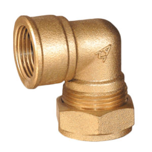 "AMICO/埃美柯 624系列90°内螺纹卡套弯头 DN15 1/2"" 黄铜 1个"