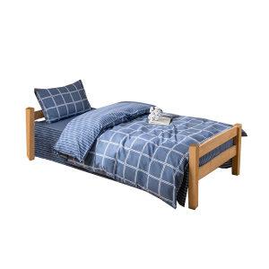 ZKH/震坤行 单人床三件套 高密度1.2床 三件套 被套230×160cm 床单210×160cm 枕套70×45cm 可按需定制 1床