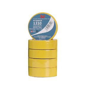 3J PVC电气绝缘胶带 1310 黄色 0.13mm×18mm×10m 10卷 1筒