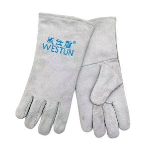 WESTUN/威仕盾 牛二层双层实惠型电焊手套 G-1649L 均码 1副
