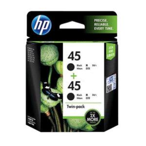 HP/惠普 墨盒 CC625AA 黑色 适用Deskjet710c/830c/850c/870cxi 45号 双包装 1个