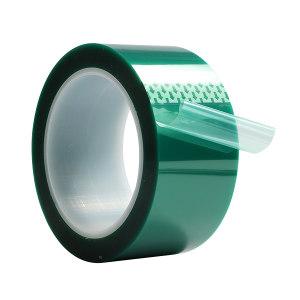 3J PET高温绿胶带 PET绿胶 绿色 0.06mm×50mm×33m 1卷