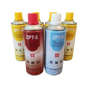 ZT/周铁 着色渗透探伤剂套装 ZPT-5 4套 每套包含1罐渗透剂+1罐显像剂+4罐清洗剂 1箱