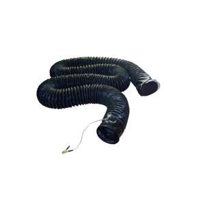 DINZOO/顶卓 PVC伸缩风管 内径600mm(24寸) 黑色 10米 内外层含碳粉 1根