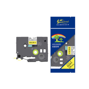 EDJD/E代经典 标签机色带 e-TZe-641 适用兄弟标签机色带/18mm黄底黑字/TZe-641 1个