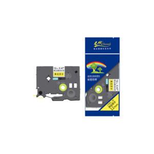 EDJD/E代经典 标签机色带 e-TZe-631 不带芯片 适用兄弟标签机色带/12mm黄底黑字 1个