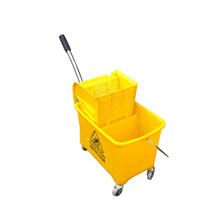 SAFEWARE/安赛瑞 商用单桶拖把榨水车 10671 20L 黄色 61×27×67cm 1个