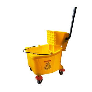SAFEWARE/安赛瑞 商用单桶拖把榨水车 10672 36L 黄色 56×38×79cm 1个