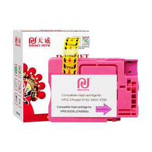 PRINT-RITE/天威 墨盒 933XL 洋红色 适用HP Officejet 7110 7612 6230 7510 6100 6600 6700 7612 1个