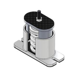 GOOX/高象 弹簧减振器 GXSJB-100-L 1个