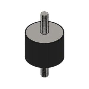GOOX/高象 圆柱双头螺栓橡胶减振器 GXSS4030M10 1个