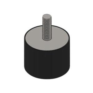 GOOX/高象 圆柱双头螺栓橡胶减振器 GXSF2520M8 1个