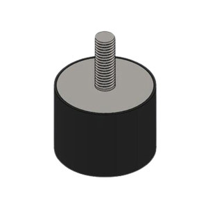 GOOX/高象 圆柱双头螺栓橡胶减振器 GXSF4025M8 1个