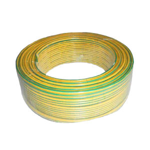 JIANGNAN/江南 铜芯聚氯乙烯绝缘软电缆 BVR-450/750V-1×4 黄绿双色 100m 1卷
