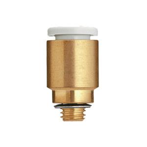 SMC KQ2系列直通接头 KQ2S06-M5A 黄铜接头 快插接口6mm 外螺纹M5 1个