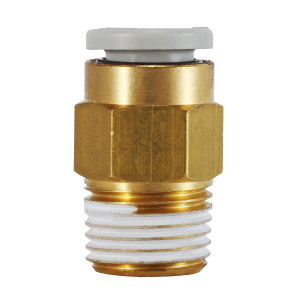 SMC KQ2系列直通接头 KQ2H06-01AS 黄铜接头 快插接口6mm 外螺纹Rc1/8 1个