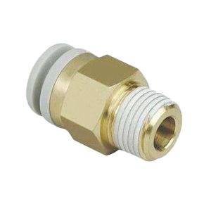 SMC KQ2系列直通接头 KQ2H08-01AS 黄铜接头 快插接口8mm 外螺纹Rc1/8 1个
