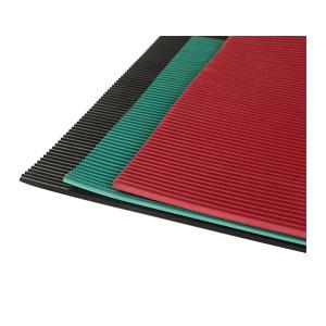 VICTORY FLUID/捷丰流体 红色绝缘橡胶板 防滑型(条纹) 宽1m 长10m 厚10mm 30kV 净重约180kg 毛重约181kg 1卷