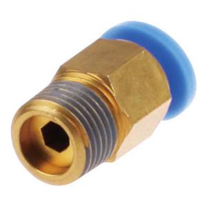 EASUN/亿日 外螺纹直通接头 EPC10-02 快插接头10mm-外螺纹R1/4 铜镀镍 1个