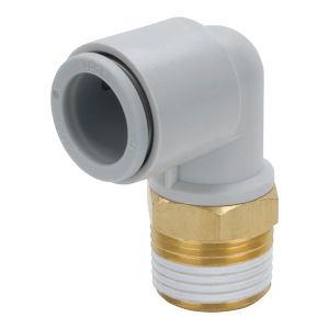 SMC KQ2L系列弯通接头 KQ2L08-01AS 黄铜+塑料接头 快插接口8mm-外螺纹Rc1/8 1个