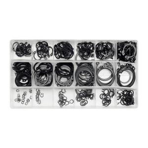 YATO/易尔拓 轴用钢丝挡圈组套 碳钢 发黑 YT-06880 φ3~32 300件 1盒