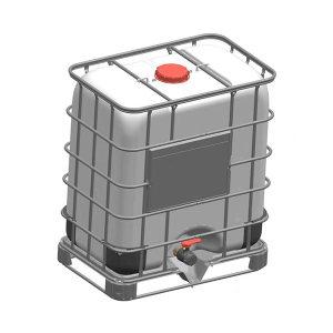 ZKH/震坤行 IBC吨桶 500L-W-M 1000×650×1150mm 白色 灌装口 敞口密封盖 1个