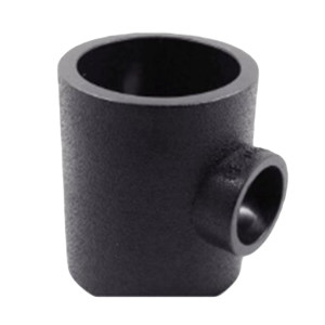 ZHONGCAI PIPES/中财管道 PE变径三通接头排水管 DN160×75 黑色 热熔 12000389283 1只