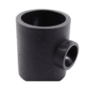 ZHONGCAI PIPES/中财管道 PE变径三通接头排水管 DN110×75 黑色 热熔 12000389285 1只