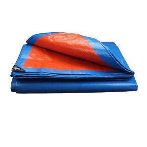 ZKH/震坤行 防雨篷布 DJ-定制-10*12m 蓝色+橘色+红色 每平方米约重160~180g 1卷