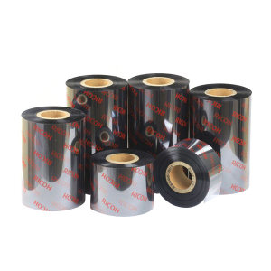RICOH/理光 混合基碳带 B110A 黑色 适用博思得/斑马/立象/科诚部分机型 100mm×70m 管芯12.5mm 1卷