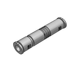 SMC ZU-A系列直通型真空发生器 ZU05LA 喷嘴口径0.5mm 最高真空压力-48kPa 压缩空气接口6mm 排气接口6mm 真空接口6mm 1个