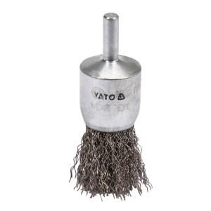 YATO/易尔拓 带杆碗型曲丝钢丝轮 YT-47496 φ25mm 杆6mm 1个